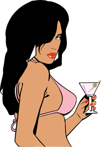 GTA Vice City Woman Logo